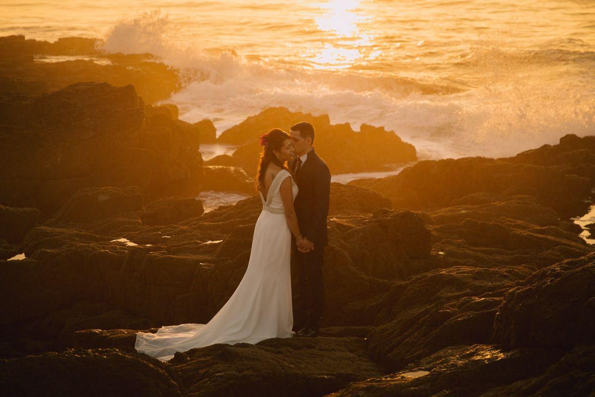 puesta de sol, mar y amor